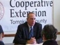 NYS Asst. Attorney General Mike Danaher discusses a consumer issue at CCE-Tompkins