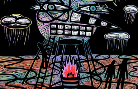 """Exhibition: """"id-eology / stories from the id,"""" by printmaker James Bailey"""