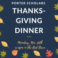 Porter Thanksgiving Dinner