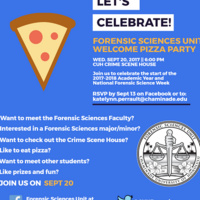 Forensic Sciences Unit Welcome Pizza Party