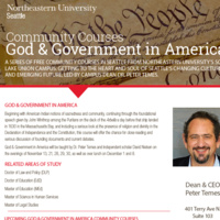 Community Courses: God & Government in America - Course #3