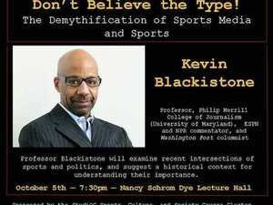 Don't Believe the Type! Kevin Blackistone at Oberlin College