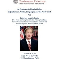 An Evening with Lincoln Chafee: Reflections on Politics, Campaigns, and the Public Good