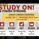Study On! and Finish Strong.... USC Finals Week.