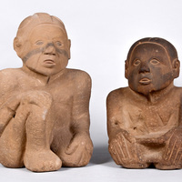 Prehistoric Native American statue currently on display at McClung Museum