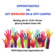 Opportunities to Get Involved on and off Campus for International Students