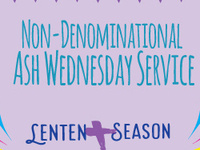 Non-Denominational Ash Wednesday Service