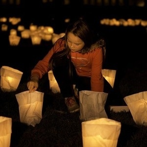 young girl at earth hour event in Australia