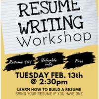 Resume Writing Workshop Johnson Wales University