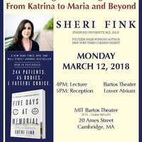 MIT STS Program presents the 2018 Morison Prize & Lecture with guest speaker, Sheri Fink, PhD, MD