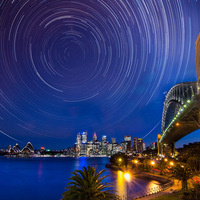 Earth Hour Star Trails Walk around Sydney Harbour