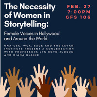 The Necessity of Women in Storytelling: Female Voices in Hollywood and Around the World