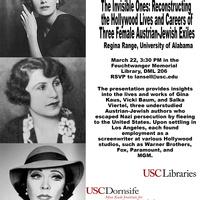 The Invisible Ones: Reconstructing the Hollywood Lives and Careers of Three Female Austrian-Jewish Exiles