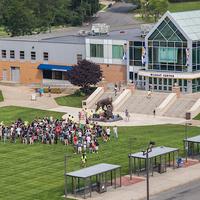 Wildcat Statue Green Space - Harborside Campus