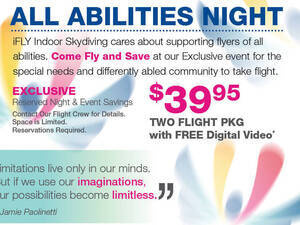All Abilities Night at iFLY