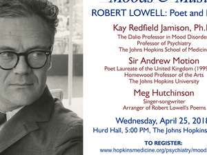 "Johns Hopkins Moods & Music presents ""Robert Lowell:  Poet & Patient"""