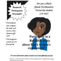 BLACK FEMALE NEU STUDENTS 18-34 NEEDED FOR STUDY