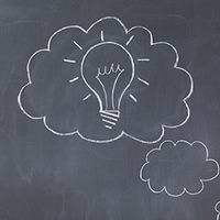 idea chalkboard thinking