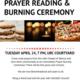 Prayer Reading & Burning Ceremony