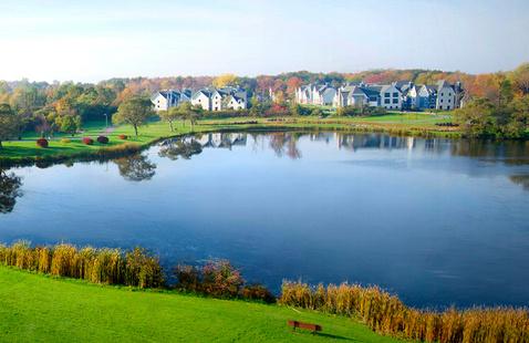 Glimmerglass lagoon in summer