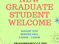New Graduate Student Welcome Reception