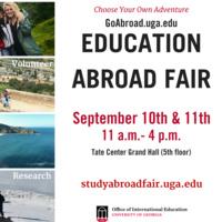 Study Abroad Fair: Day 1