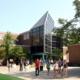 Students walk near Olscamp Hall