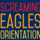 Screaming Eagles Orientation text on blue background