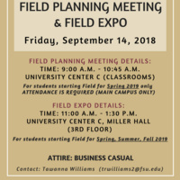 Field Planning Meeting & Field Expo