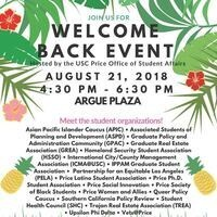 Price Welcome Back Event