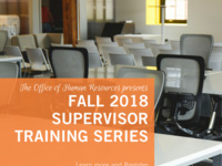 Supervisor Training Series - Performance Management and SMART Goals