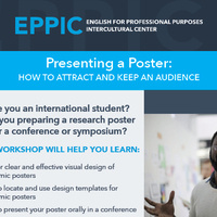 Presenting a Poster: How to Attract and Keep an Audience