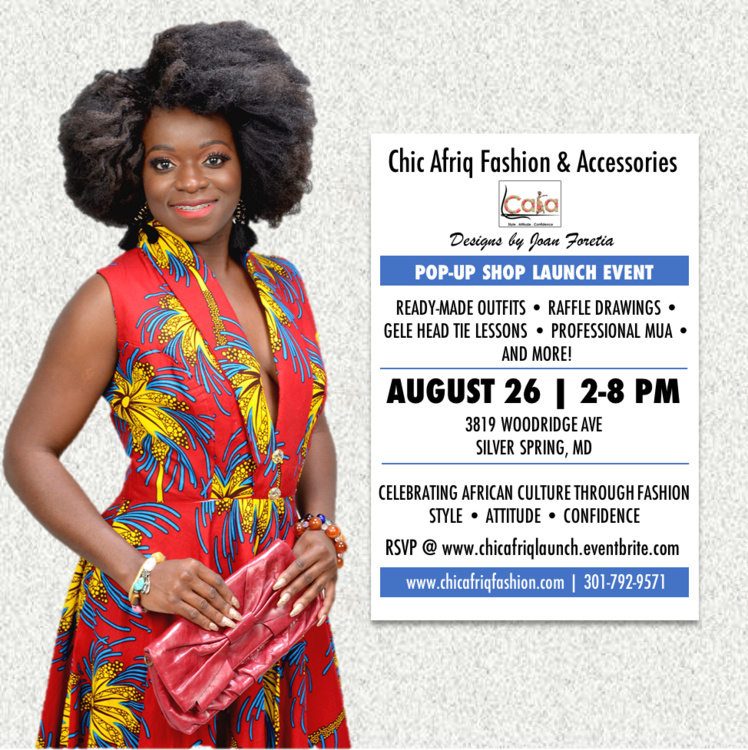 Pop Up Shop Chic Afriq Fashion Accessories Launch Visit Montgomery County