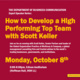 How to Develop a High Performing Top Team with Scott Keller, Senior Partner at McKinsey & Company