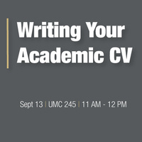 Writing Your Academic CV