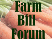 Farm Bill Forum: It's Your Farm Bill, too!