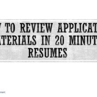 OCPD: How to Review Resumes - Clinic for APhA & PLS leadership team
