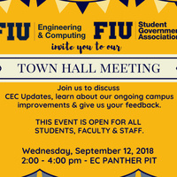 Town Hall Meeting with the Dean of Engineering & Computing