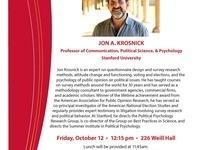 Roper Center Speaker Series - Jon Krosnick