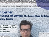 The Snows of Venice / Literary Reading by Ben Lerner