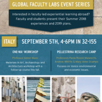 Global Faculty Labs Event Series - Italy