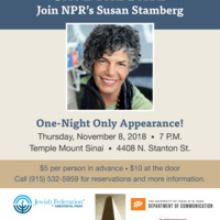 SAVE THE DATE: Join NPR's Susan Stamberg