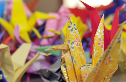 Peaceful Origami - Origami Cranes, and reading of 'Sadako and the Thousand Paper Cranes'