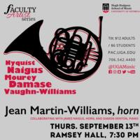 Faculty Artist Series Concert: Jean Martin-Williams, horn