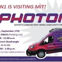 Kentek PHOTON1 Laser Safety Van Coming to MIT