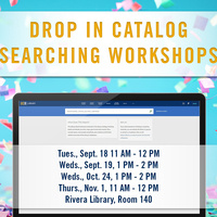 Drop-In Catalog Searching Workshops