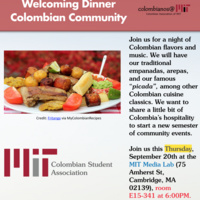 MIT Colombian Association Welcoming Dinner