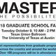2018 Graduate School Fair