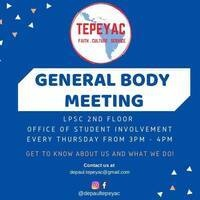 Tepeyac General Body Meeting