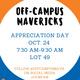 Off-Campus Mavericks Appreciation Day